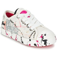 Chaussures Enfant Baskets basses Geox J CIAK G. D Blanc / Rose