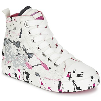 Chaussures Fille Baskets montantes Geox J CIAK G. C Blanc / Rose