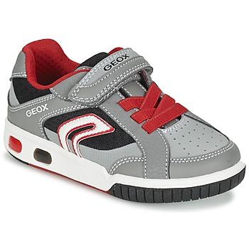 Chaussures Garçon Baskets basses Geox J GREGG A Gris / Rouge