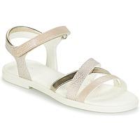 Chaussures Fille Sandales et Nu-pieds Geox J S.KARLY G.D Beige / Doré