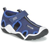 Chaussures Garçon Sandales sport Geox J WADER C Marine