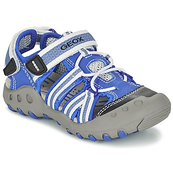 Chaussures Garçon Sandales sport Geox J SAND.KYLE C Bleu / Blanc