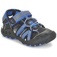 Chaussures Garçon Sandales sport Geox J SAND.KYLE C Noir / Bleu