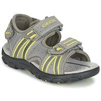 Chaussures Garçon Sandales sport Geox J S.STRADA A Gris / Vert