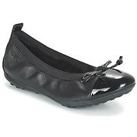 Chaussures Fille Ballerines / babies Geox J PIUMA BAL F Noir