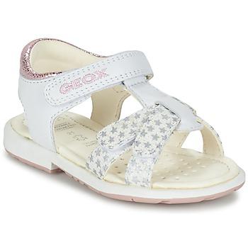 Chaussures Fille Sandales et Nu-pieds Geox B SAN.VERRED D Blanc