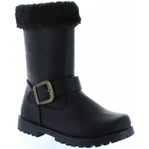 Chaussures Fille Bottes ville Happy Bee B168400-B2579 Negro