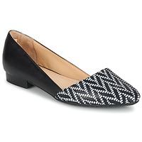 Chaussures Femme Ballerines / babies Hush puppies JOVANNA Noir / Blanc