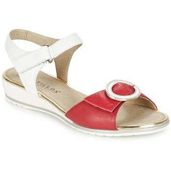Chaussures Femme Sandales et Nu-pieds Pitillos MERVA Blanc / Rouge