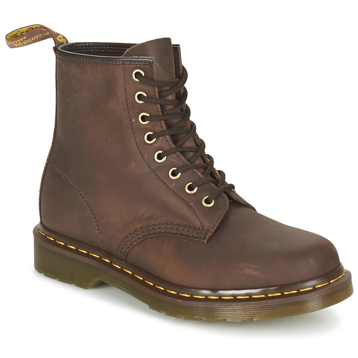 ce13626bda7 Chaussures Boots Dr Martens 1460 Marron foncé