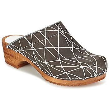 Chaussures Femme Sabots Sanita ARLA Anthracite