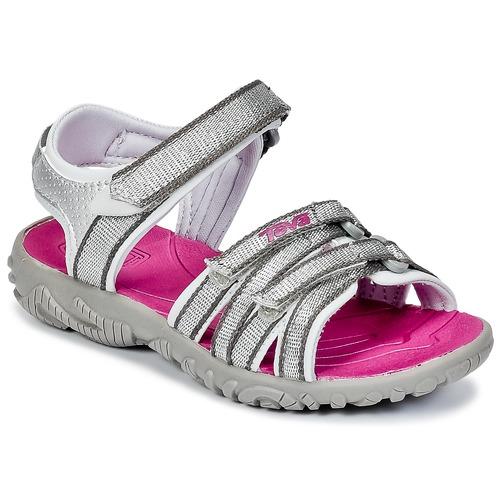 Chaussures Fille Sandales sport Teva TIRRA Argenté / Magenta