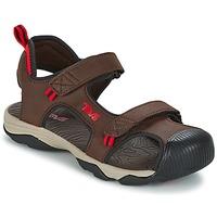 Chaussures Garçon Sandales sport Teva TOACHI 4 Marron / Noir / Rouge