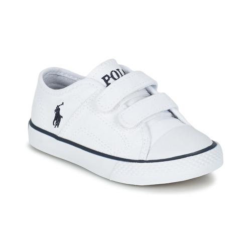 Chaussures Enfant Baskets basses Ralph Lauren DYLAND EZ Blanc