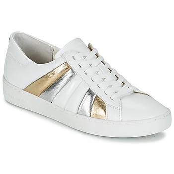 Chaussures Femme Baskets basses MICHAEL Michael Kors CONRAD SNEAKER Blanc / Doré / Argent