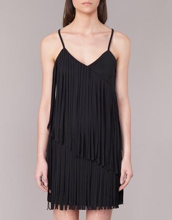 Femme Courtes W595800 Love Noir Moschino Vêtements Robes WrCexBod