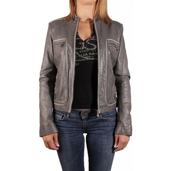 Vêtements Femme Vestes en cuir / synthétiques Redskins BLOUSON EN CUIR PRERIM GRIS