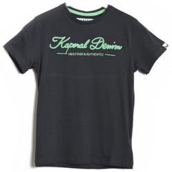 Vêtements Garçon T-shirts & Polos Kaporal T-Shirt  COBY Dirty Black Noir