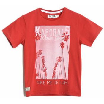 Vêtements Garçon T-shirts & Polos Kaporal T-Shirt Garçon Calif Hibiscus Rouge