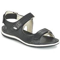 Chaussures Femme Sandales sport Geox D SAND.VEGA A Noir