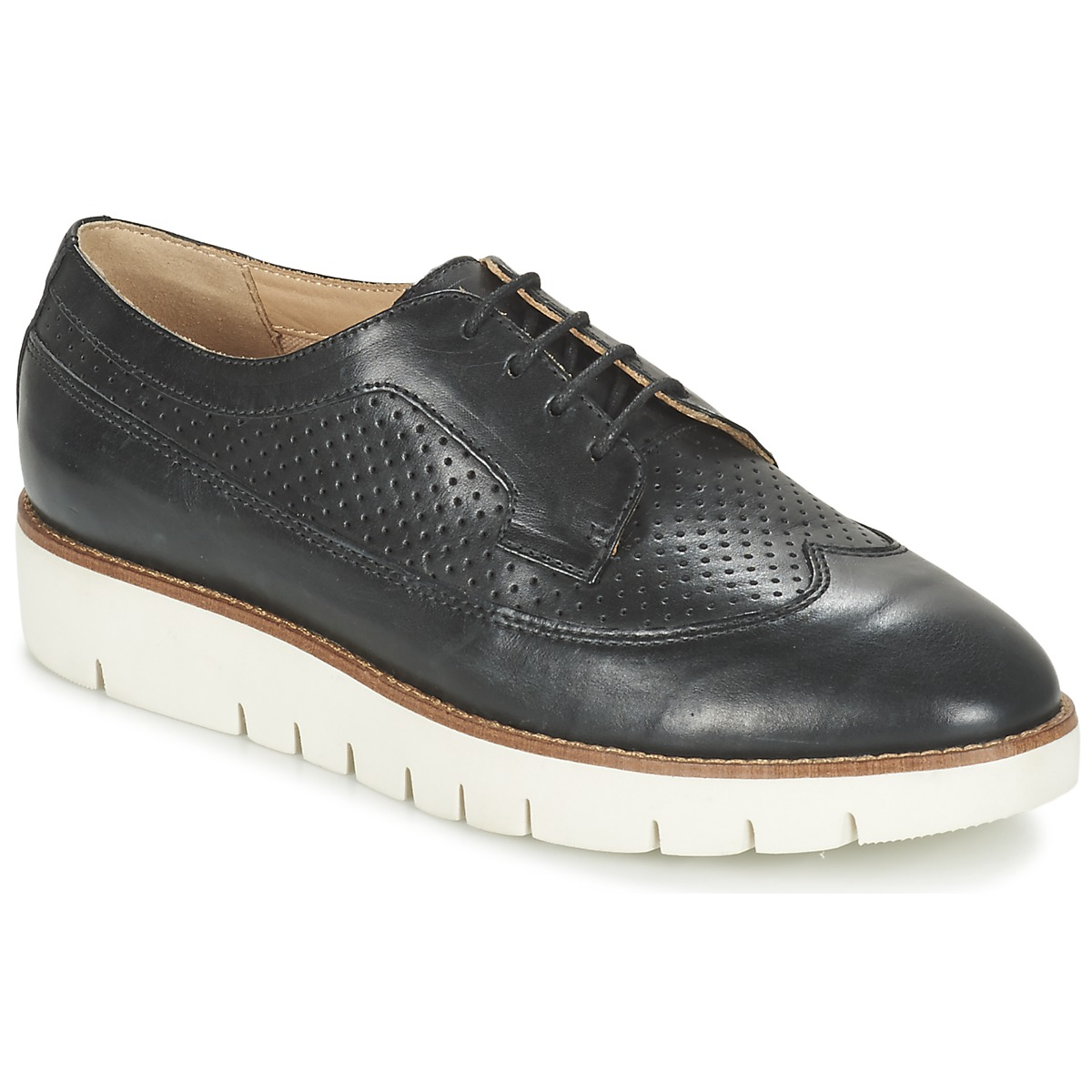Geox D Blenda A Blanc-Beige - Chaussures Derbies Femme