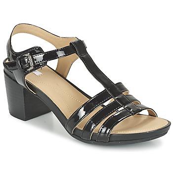 Chaussures Femme Sandales et Nu-pieds Geox D SYMI C Noir