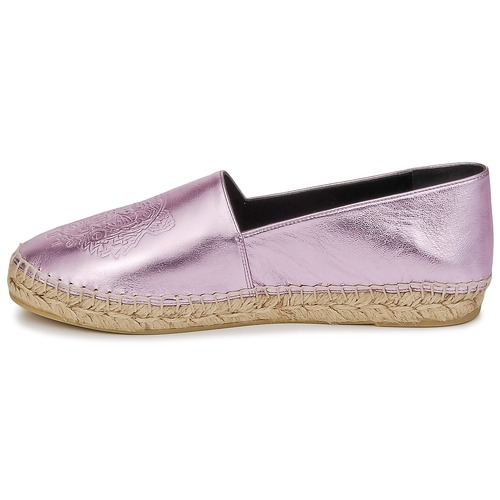 Leather Espadrilles Metalic Kenzo Femme Tiger Synthetic Rose fgY7y6vb