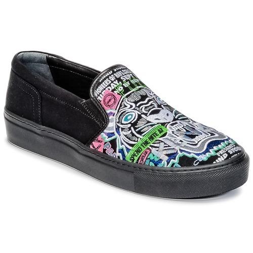 Chaussures Femme Slips on Kenzo K-SKATE Noir