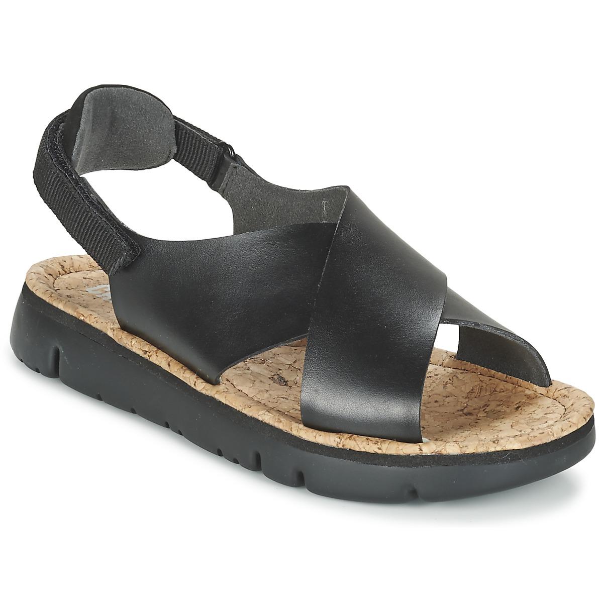 Camper Sandale Femme Livraison Gratuite Avec Tony Perotti Loafers Artiro Black Chaussures Sandales Et Nu Pieds Oruga Noir