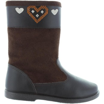 Chaussures Fille Bottes ville Garatti AN0088 Marr?n