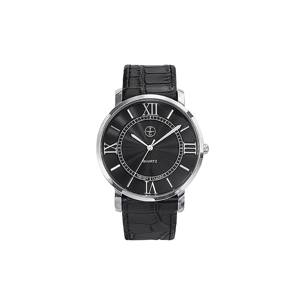 Trendy Classic Montre  Bristol CC1031-02 - Montre Crocodile Brillant Homme