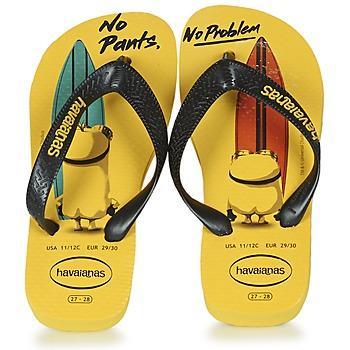 Chaussures Enfant Tongs Havaianas KIDS MINIONS Jaune / Noir