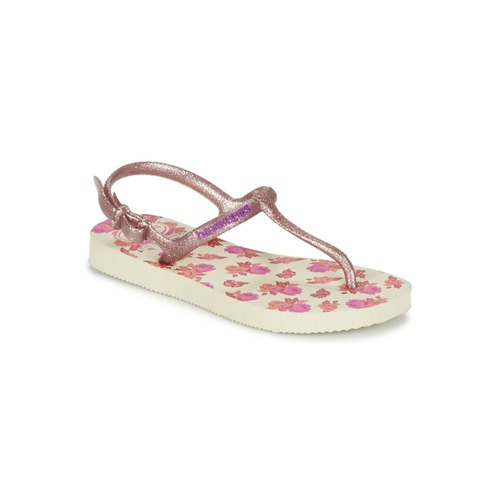 Chaussures Fille Tongs Havaianas KIDS FREEDOM PRINT Beige / Rose