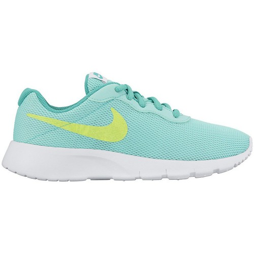 Chaussures Enfant Baskets basses Nike Tanjnun Turquoise-Blanc