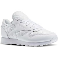 5e24a43d6c3a8 Chaussures Femme Baskets basses Reebok Sport Classic Leather Quilted Pack  blanc