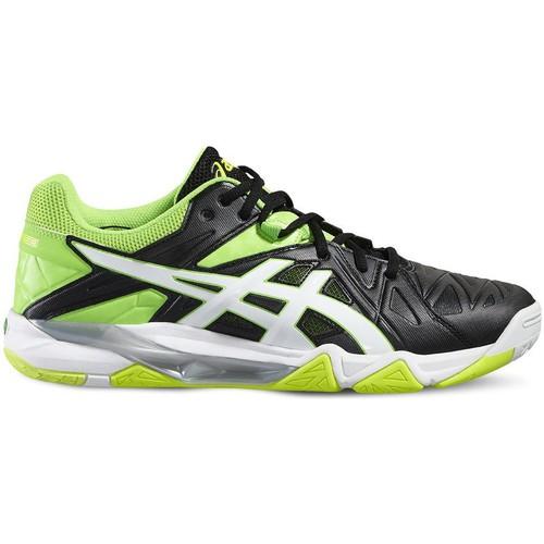 Chaussures Homme Baskets basses Asics Gelsensei 6 Vert-Noir-Blanc