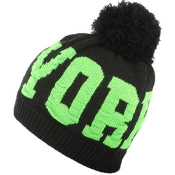 Accessoires textile Homme Bonnets Hip Hop Honour Bonnet NY Vert et Noir Neyra Noir