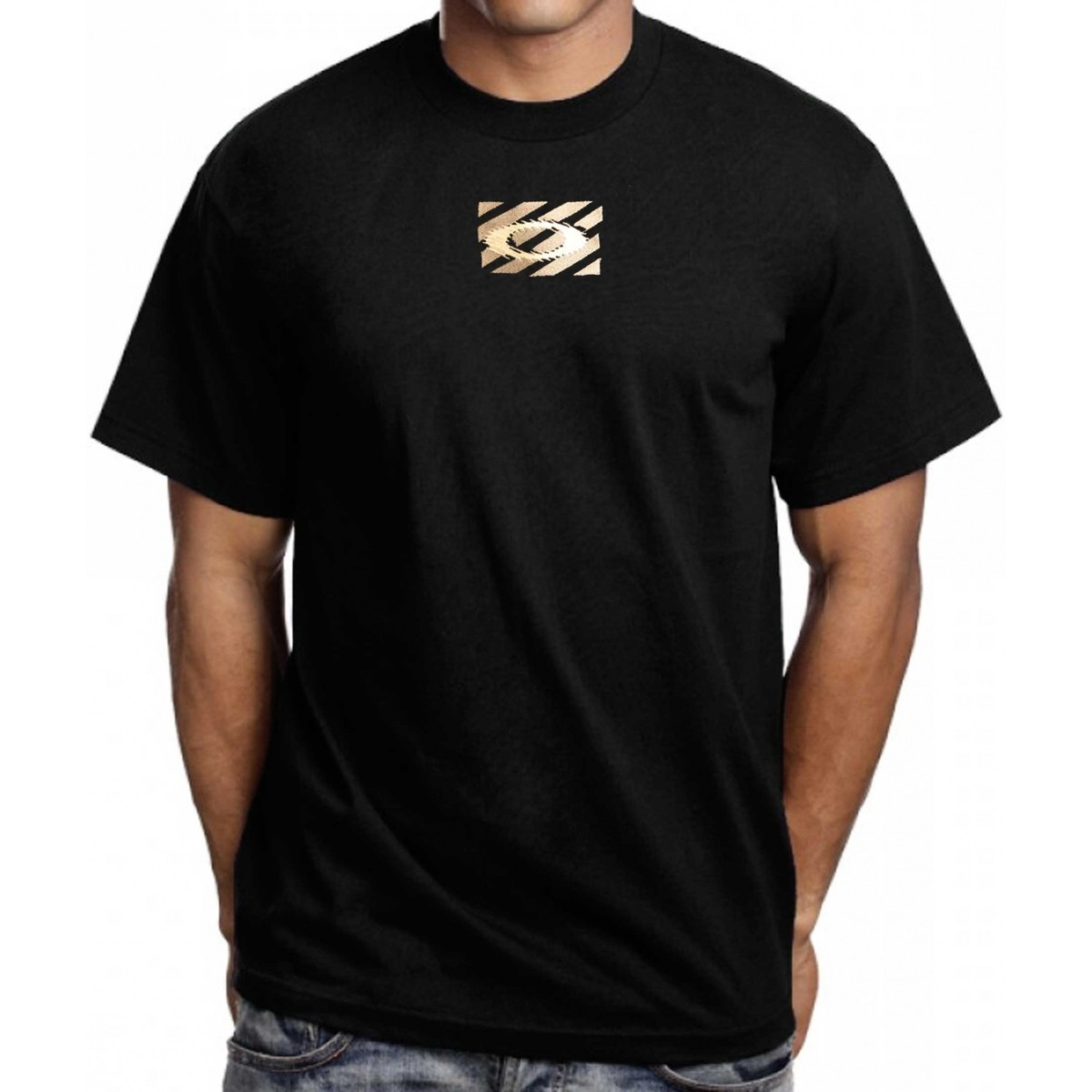Oalkey Vintage Tee shirt Oakley  Embro'd Software Black noir