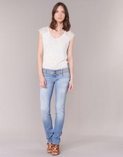 Vêtements Femme Jeans droit Le Temps des Cerises 220 Bleu Clair