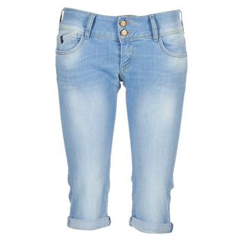Vêtements Femme Jeans 3/4 & 7/8 Le Temps des Cerises CHRISTIA Bleu Clair