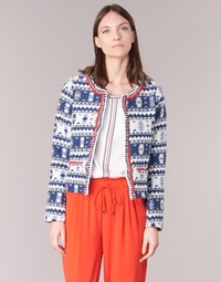 Vêtements Femme Vestes / Blazers Molly Bracken BERIP Marine / Blanc / Orange
