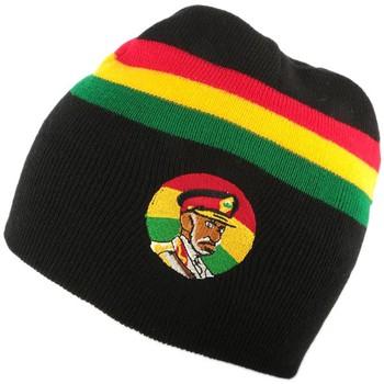 Accessoires textile Homme Bonnets Nyls Création Bonnet Rasta Haile Selassie Noir