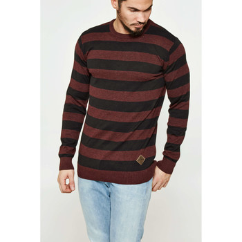Vêtements Homme Pulls Shine Paris Pull  Striped Bordeaux Homme Bordeaux