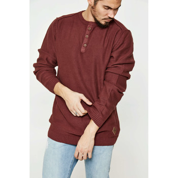 Vêtements Homme Pulls Shine Paris Pull  Reversed Grandad Bordeaux Homme Bordeaux