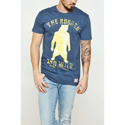 Vêtements Homme T-shirts manches courtes Shine Paris Tee Shirt  Rugged And Wild Bleu Homme Bleu
