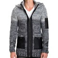 Beststyle Gilet homme long capuche
