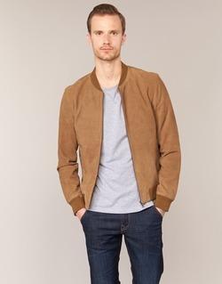 Vêtements Homme Vestes en cuir / synthétiques Selected MARK Camel