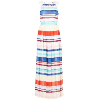 Vêtements Femme Robes longues Tommy Hilfiger AGATON Blanc / Bleu / Orange