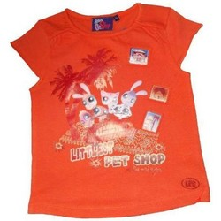 Vêtements Fille T-shirts manches courtes Littlest Petshop T-shirt à manches courtes orange