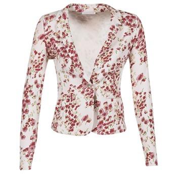 Vêtements Femme Vestes / Blazers Les P'tites Bombes OSIDOULE Blanc / Rouge